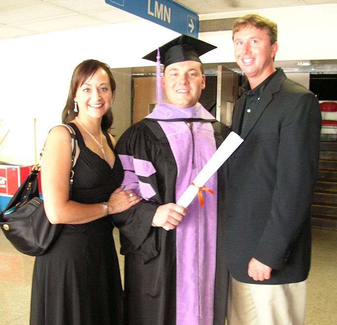 Tom, his wife Kim, and Ty Abernathy
